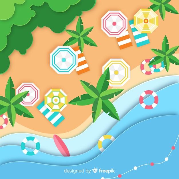 Fond de plage Vecteur gratuit