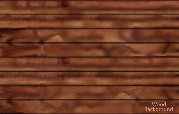 Fond De Planches De Bois Sombre Photoréaliste Pour La Conception Vecteur gratuit