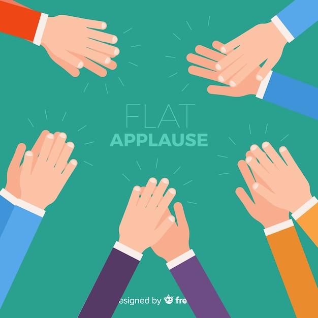 Fond plat d'applaudissements Vecteur gratuit
