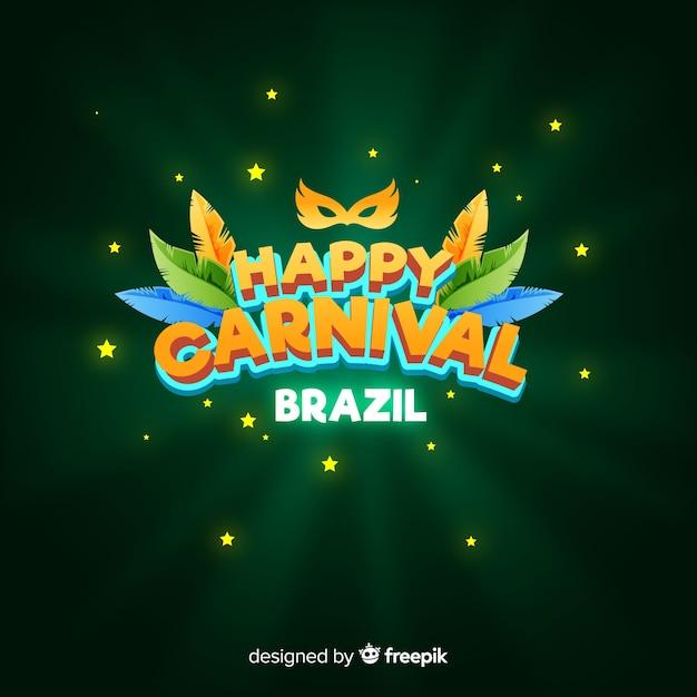 Fond plat de carnaval brésilien Vecteur gratuit
