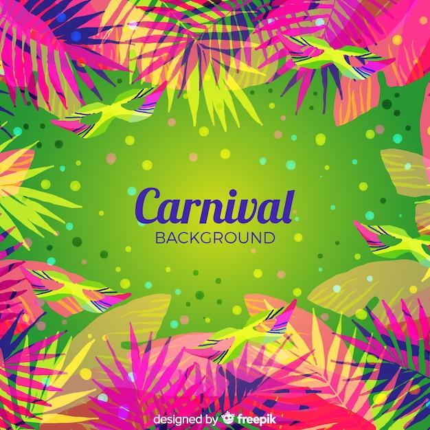 Fond plat de carnaval Vecteur gratuit