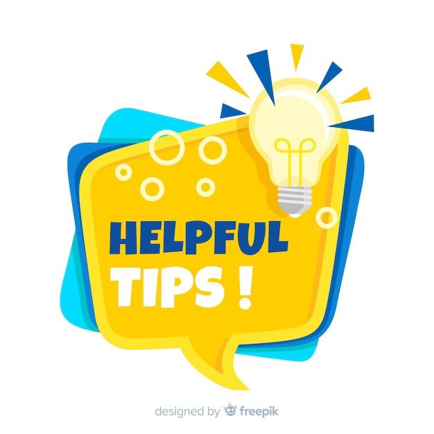 Fond plat de conseils utiles Vecteur gratuit