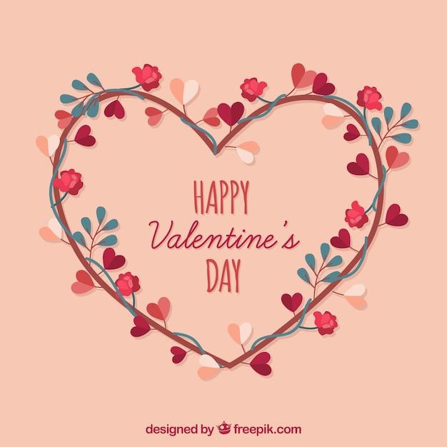Fond plat de la saint valentin t l charger des vecteurs - Image st valentin a telecharger gratuitement ...
