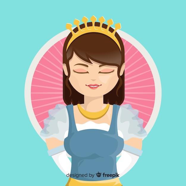 Fond Plat Princesse Vecteur gratuit