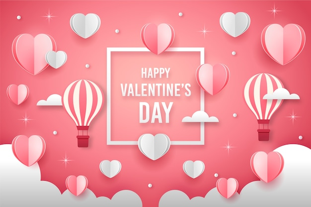 Fond Plat De La Saint-valentin Vecteur gratuit