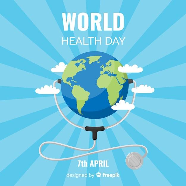 Fond plat de la santé mondiale Vecteur gratuit