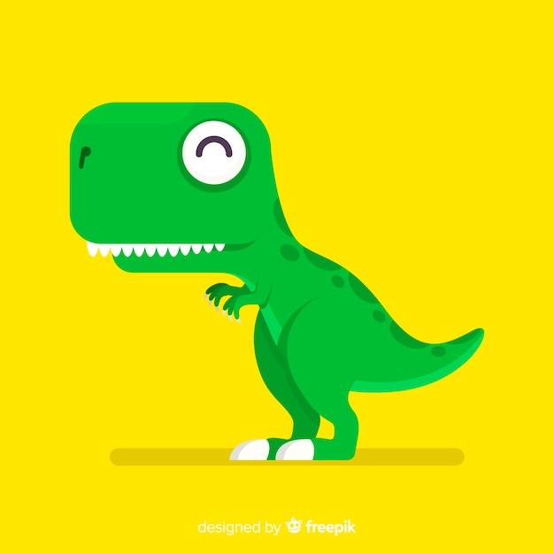 Fond plat de t-rex Vecteur gratuit