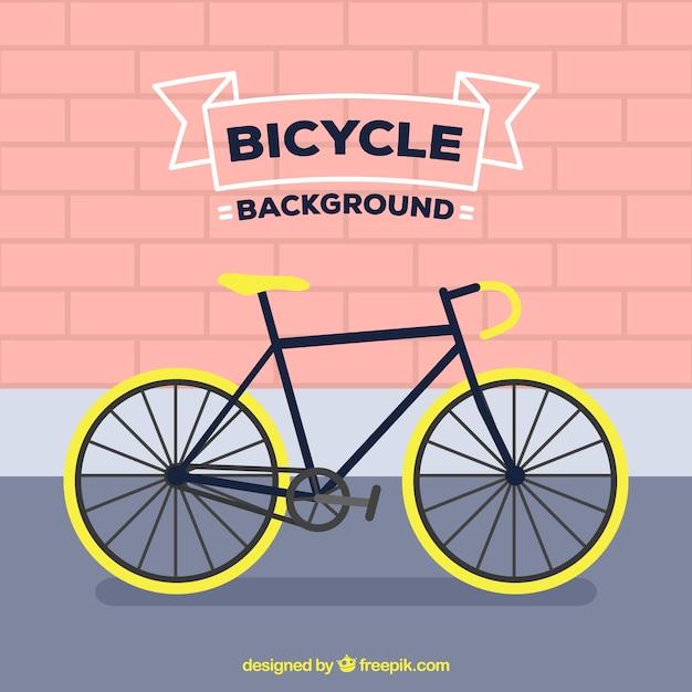 Fond Plat Avec Vélo Professionnel Vecteur Premium