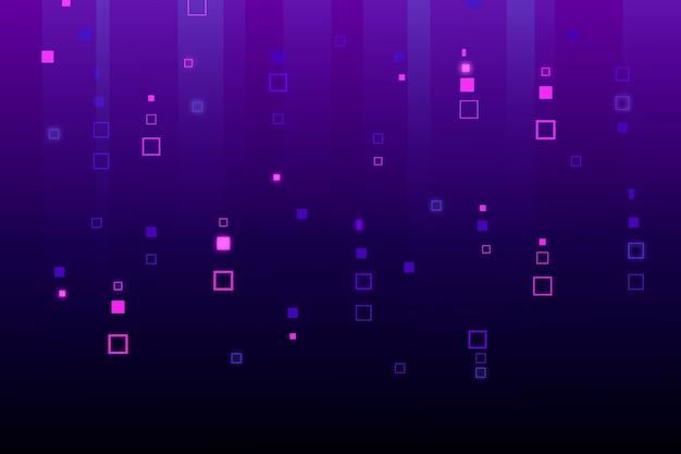 Fond De Pluie Pixel Abstrait Vecteur gratuit