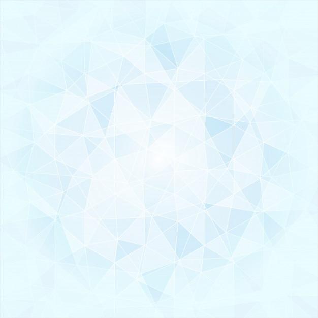 Fond poligonal abstrait dans les tons bleus et blancs, vecteur Vecteur Premium