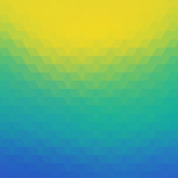 Fond polygonal en bleu, tuquoise et tons jaunes Vecteur gratuit