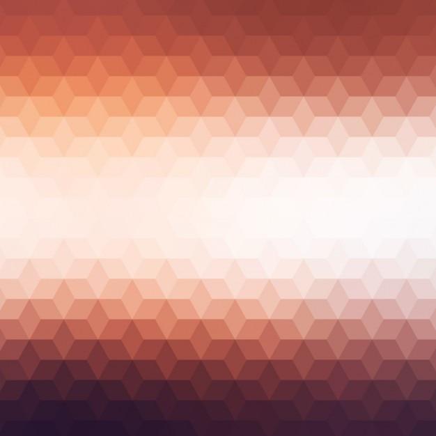 Fond polygonal dans des tons bruns Vecteur gratuit