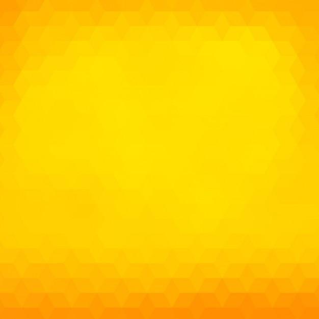 Fond polygonal dans des tons jaunes et oranges Vecteur gratuit