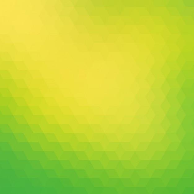 Fond polygonal dans des tons verts et jaunes Vecteur gratuit
