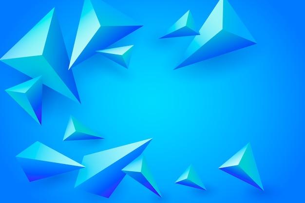 Fond Polygonale Bleu 3d Vecteur gratuit