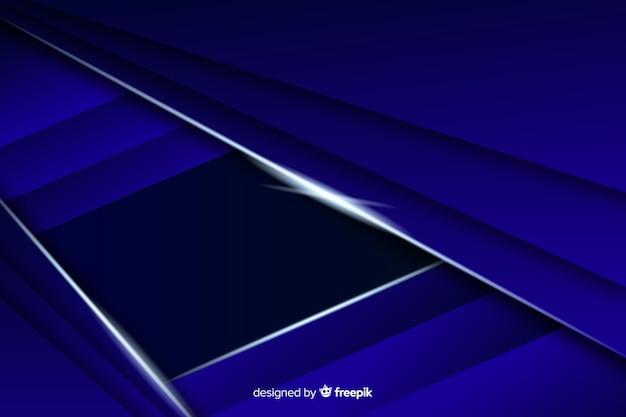 Fond Polygonale Bleu Foncé élégant Vecteur gratuit