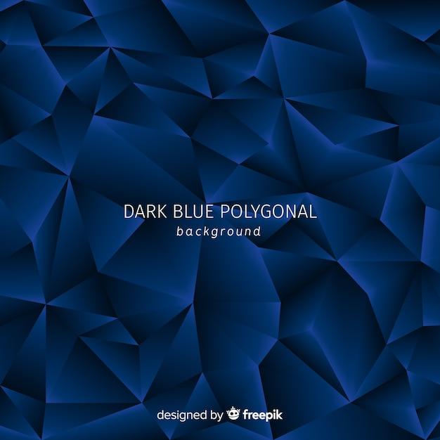 Fond polygonale bleu foncé Vecteur gratuit