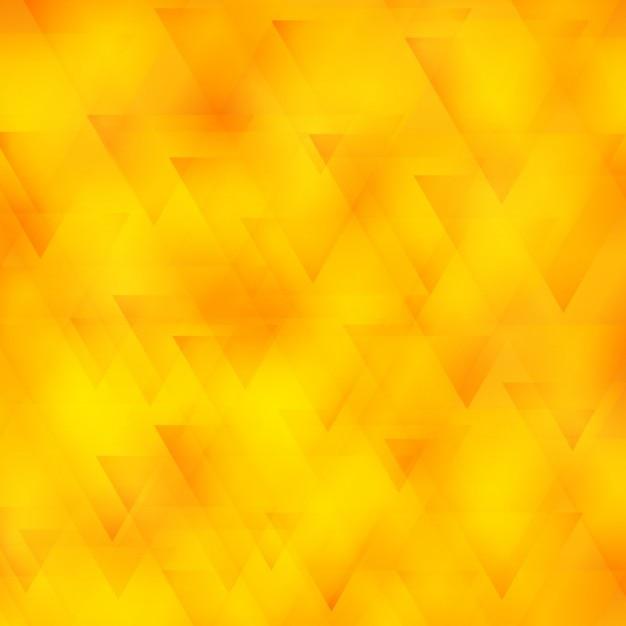 Fond polygonale jaune avec des triangles Vecteur gratuit
