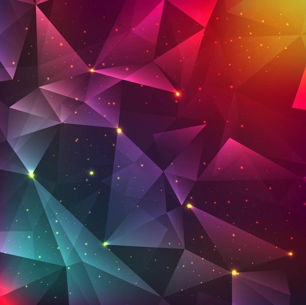 Fond polygonale moderne et coloré Vecteur gratuit