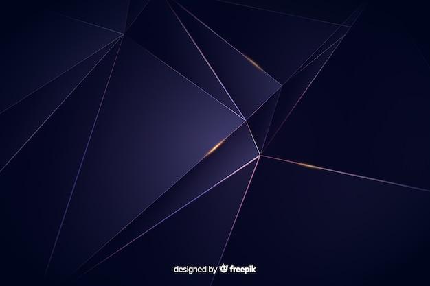 Fond polygonale sombre de luxe Vecteur gratuit