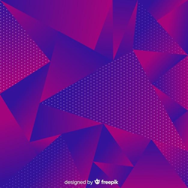 Fond polygonale sombre Vecteur gratuit