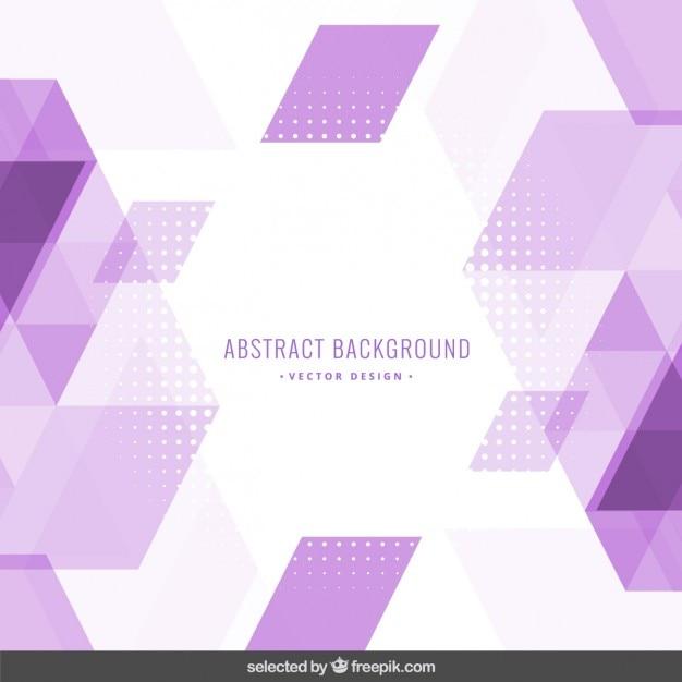 Fond polygonale violet Vecteur gratuit
