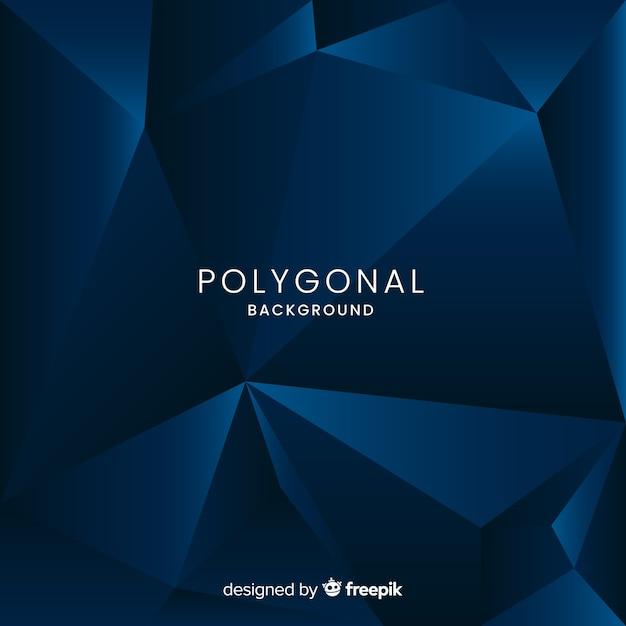Fond polygonale Vecteur gratuit