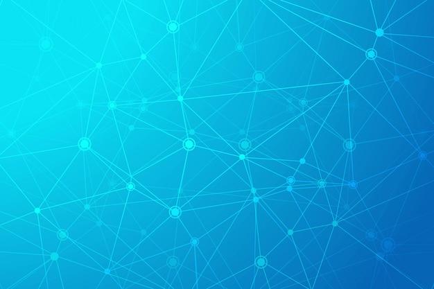 Fond De Polygone De Technologie Numérique Vecteur gratuit