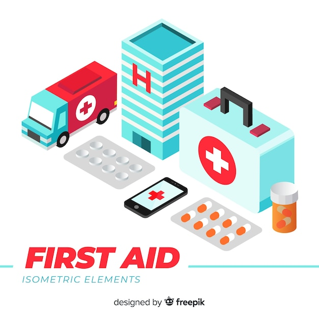 Fond de premiers secours Vecteur gratuit