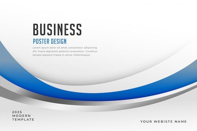 Fond de présentation d'affaires bleu élégant Vecteur gratuit
