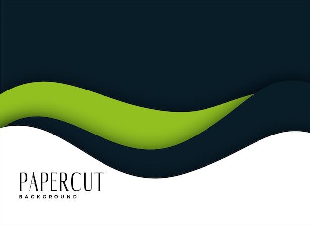Fond de présentation en style papercut Vecteur gratuit