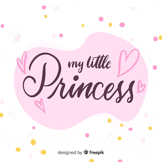 Fond De Princesse Rose Calligraphique Vecteur gratuit