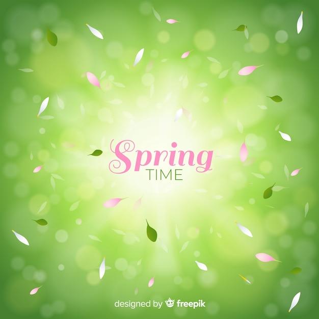 Fond de printemps brillant Vecteur gratuit