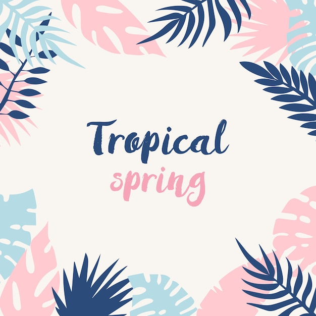 Fond de printemps tropical Vecteur gratuit