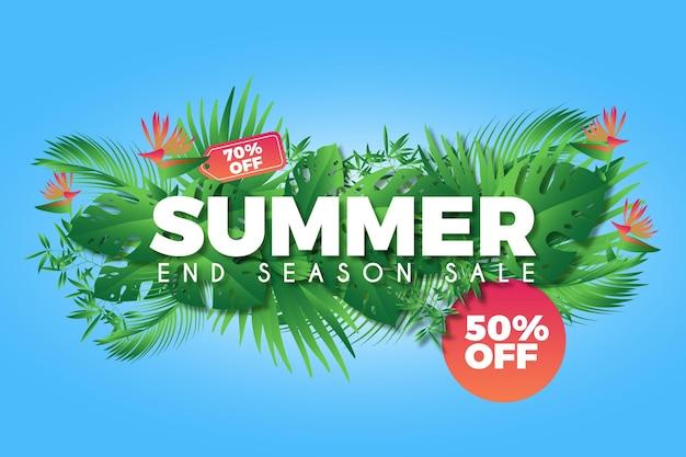 Fond Promotionnel De Vente D'été Coloré Vecteur gratuit