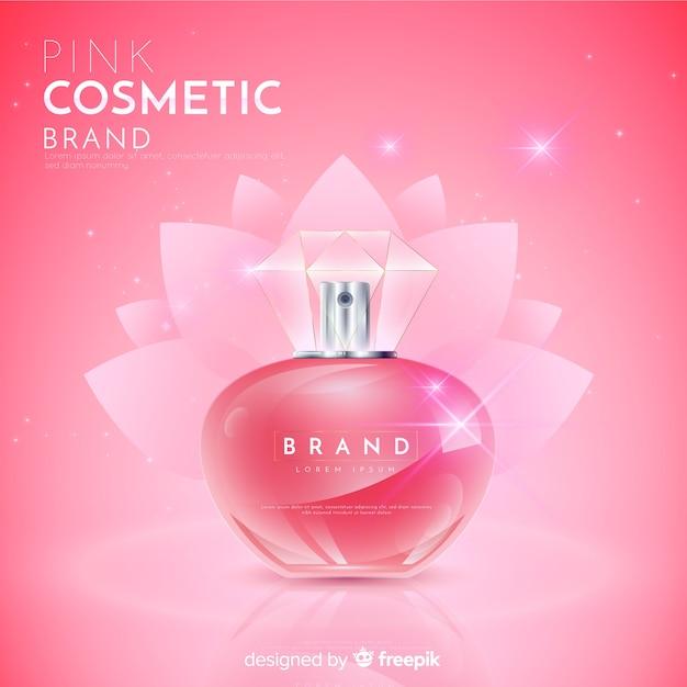 Fond de publicité cosmétique naturelle réaliste Vecteur gratuit