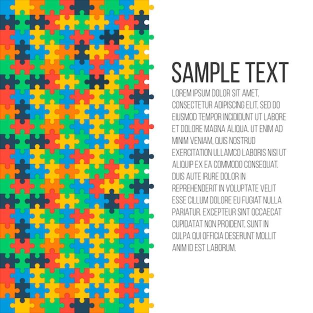 Fond de puzzle coloré Vecteur Premium