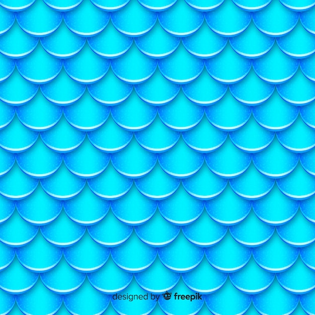 Fond de queue de sirène holographique Vecteur gratuit