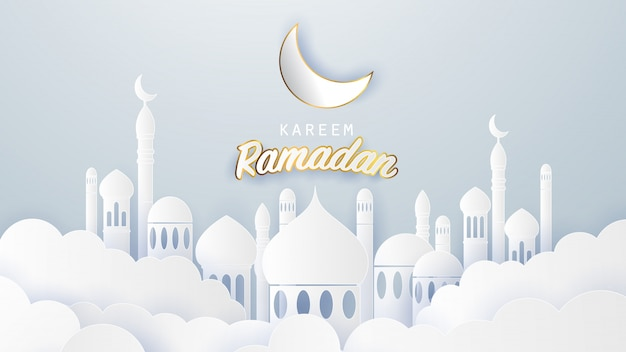 Fond de ramadan karéem Vecteur Premium