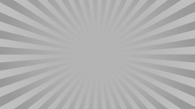 Fond de rayons monochrome. bd, style pop art. Vecteur Premium