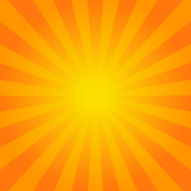 Fond De Rayons Orange Vif Vecteur Premium