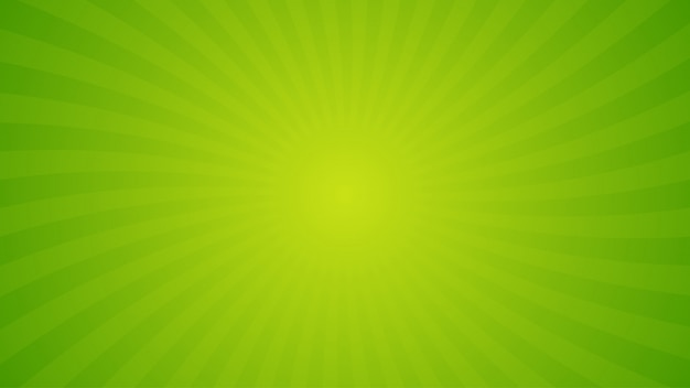 Fond De Rayons De Spirale Vert Vif. Vecteur Premium