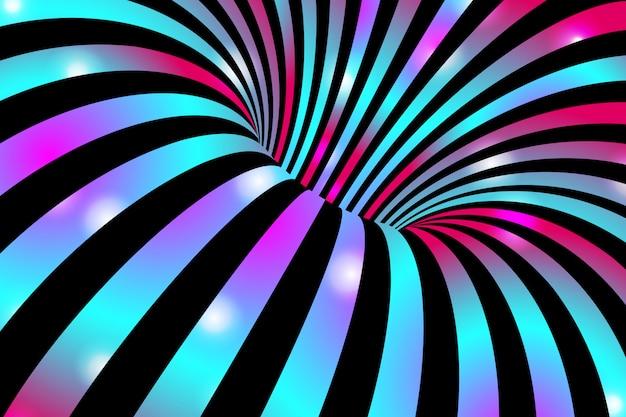 Fond de rayures ondulées abstraites colorées. Vecteur Premium