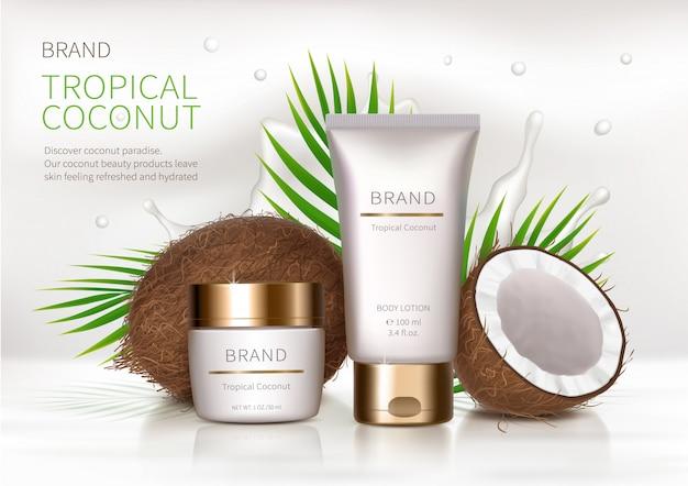 Fond réaliste cosmétique Vecteur gratuit