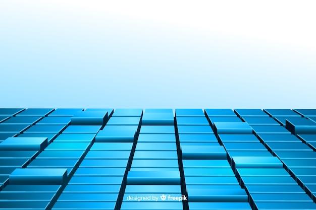 Fond Réaliste De Cubes Vecteur gratuit