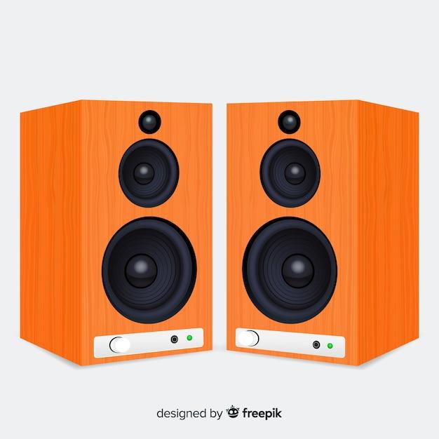Fond réaliste d'orateur 3d Vecteur gratuit