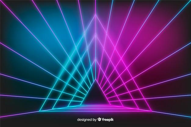 Fond de réflexion de lumières de scène Vecteur gratuit