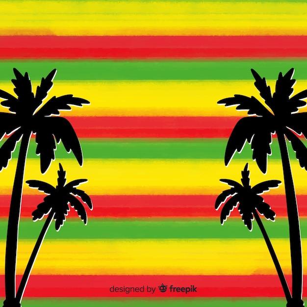 Fond de reggae rayures Vecteur gratuit
