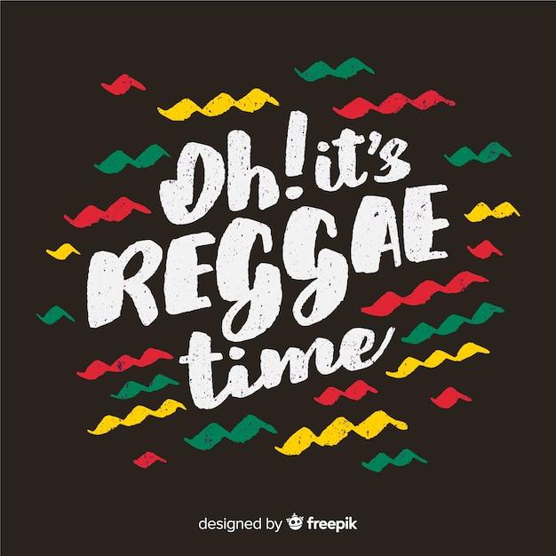 Fond de reggae waves Vecteur gratuit