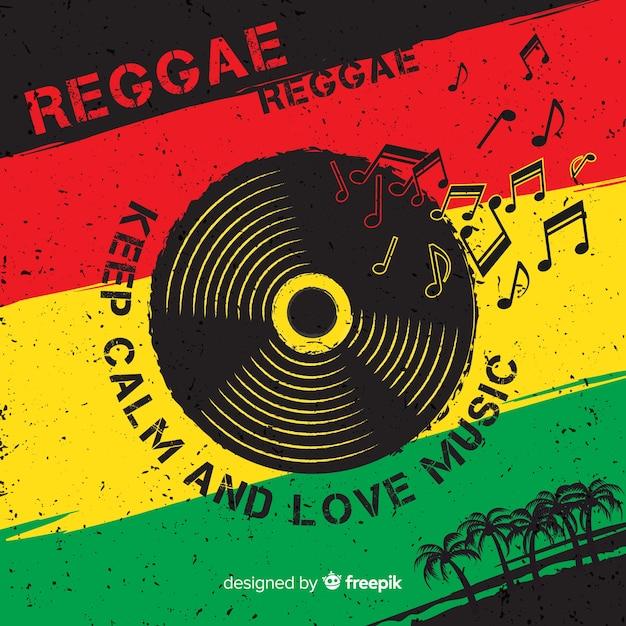 Fond de reggae Vecteur gratuit